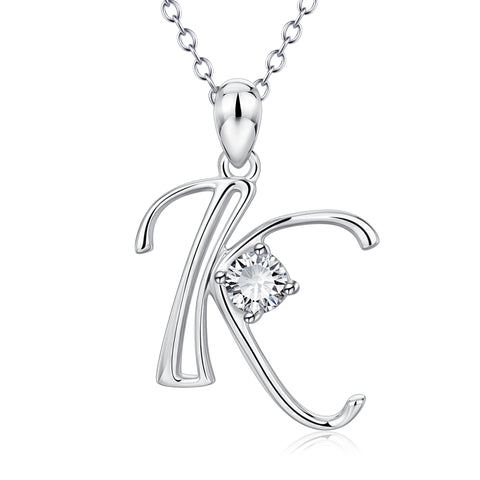 Simple Letters Alphabet Personalized Charm Pendant Necklace Best for Gift
