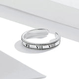 925 Sterling Silver  Numeral  Rings Fine Jewelry For Women