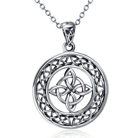 Silver Celtic Good Luck Knot Charm Necklace New Arrival Necklace
