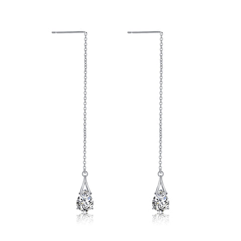 Water Drop Long Earrings Chain Ear Line Elegant Beautiful Earrings