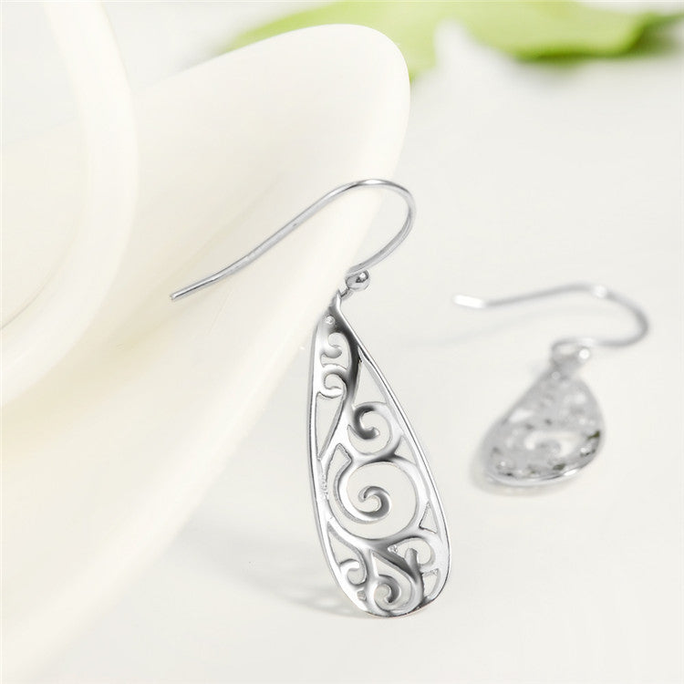 Wholesale Genuine 925 Sterling Silver Filigree Teardrop Earrings