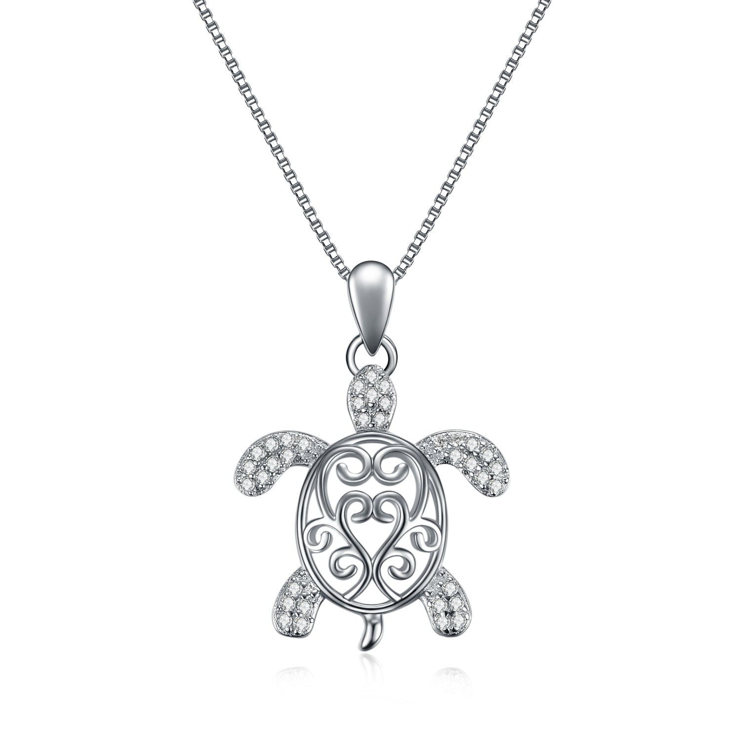 Sea Turtle CZ Necklaces Cubic Zirconia Gemstone Necklace Design