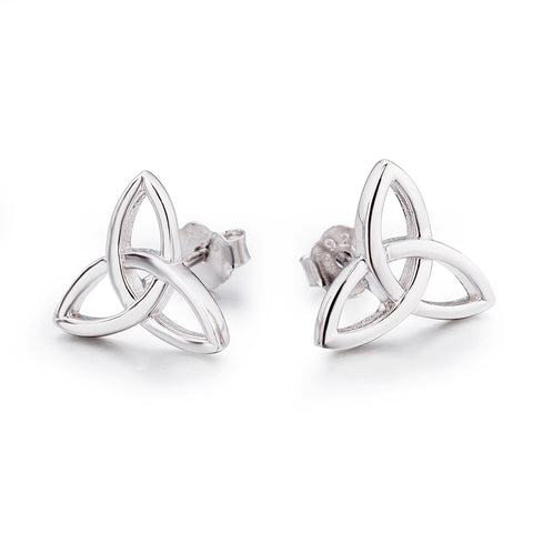 Knot Silver Line Wire Earrings Stud Silver Design Wholesale Earrings