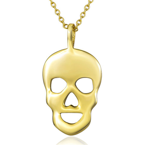 Human Face Shape Silver Necklace Manufacturing Yellow Gold Design Necklace