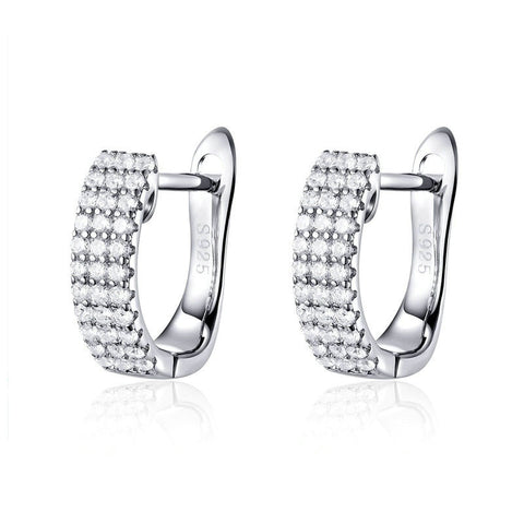 Shining Clear  CZ Cubic Zircon Stud Earrings
