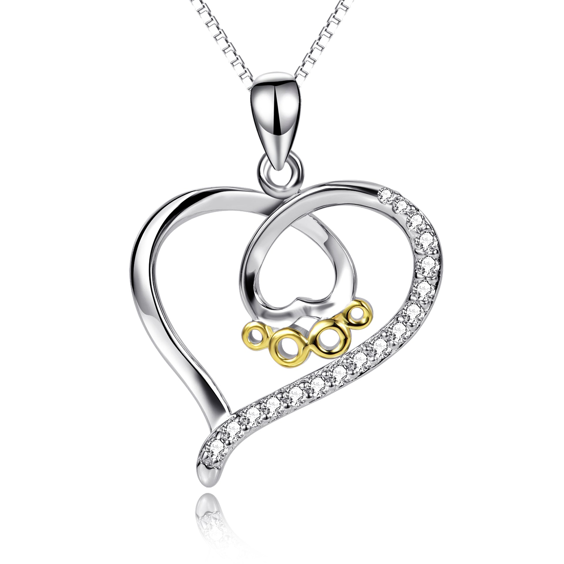 Heart Braided Heart Women's Necklace Wholesale  Chain Necklace