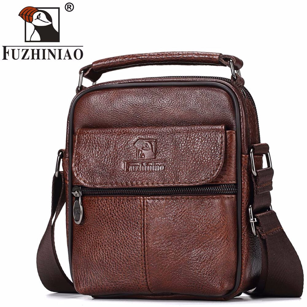 FUZHINIAO Genuine Leather Men Messenger Bag Hot Sale Male Small Man Fashion Crossbody  Shoulder Bags Men s e2aca29a25c42