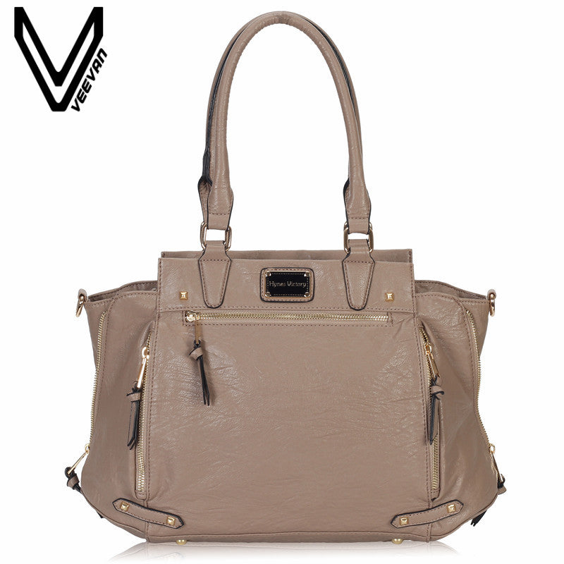 5e2ee3d996f6 VEEVANV Brand Office Lady Tote Handbag Ladies Leather Shoulder Bag Fashion  Women Handbags Crossbody Bag Female
