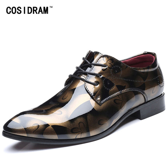 COSIDRAM Patent Leather Oxford Shoes For Men