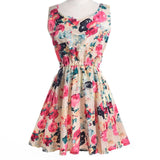 Women Summer Dress Sleeveless O-Neck Dress