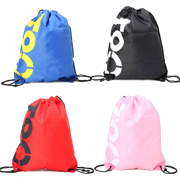 THINKTHENDO Backpack Shopping Drawstring Bags Waterproof Travel Beach Shoes Pack