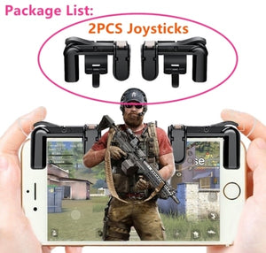 TSINGO Phone Gamepad Trigger Fire Button Sensitive Shoot and Aim Keys L1/R1 Shooter Joystick for PUBG/Fortnite Mobile Controller