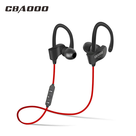 CBAOOO bluetooth earphone sport headset waterproof bass with mic