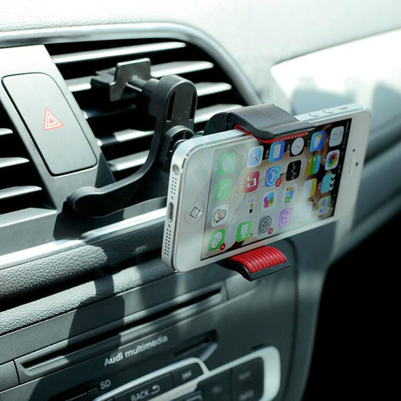 2016 NEW Universal Car Air Vent Cell Phone Holder In Car Mount For Iphone 6 7 8 Plus Mobile Phones GPS Accessories Stand Holders