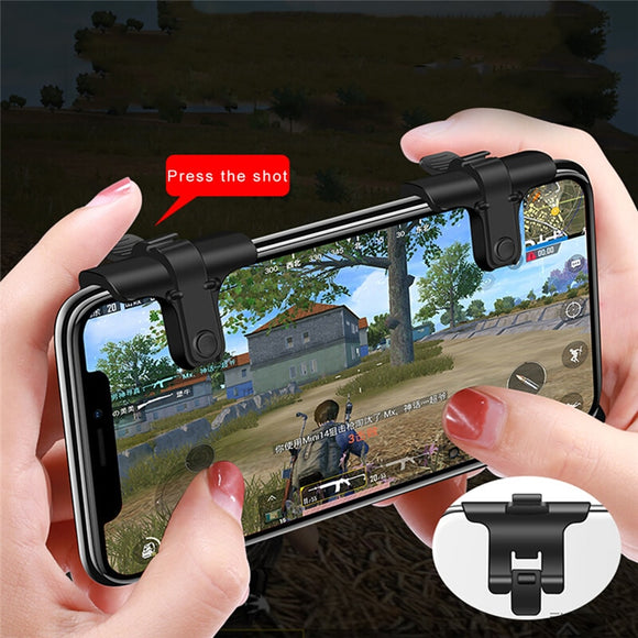 Gampad Mobile Game Fire Button Aim Key Smart phone Mobile Gaming Trigger L1R1 Shooter Controller PUBG FUT1 for iphone X Xiaomi