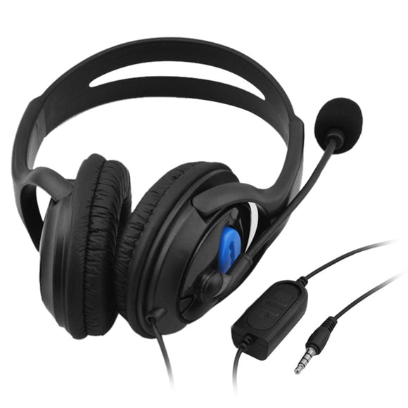 3.5mm Wired Game Headphones Over Ear Game Headset Stereo Bass Earphone with Microphone Volume Control for PC Laptop PS4