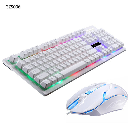 Wired Keyboard and Mouse Combo Backlight Gaming Game USB Wired Keyboard Mouse Mice Set Black /White