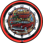 2018 Cruisin' the Coast NEON CLOCK Red