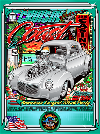 2019 Official Cruisin' The Coast Poster