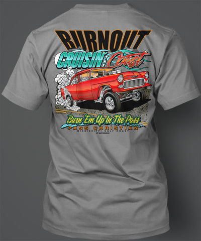 2019 Cruisin' the Coast Burnout Short Sleeve T-Shirt
