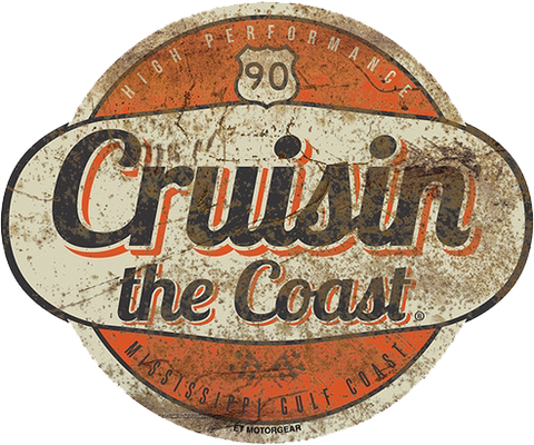 Cruisin' the Coast Round Logo Metal Sign (Made to Order)
