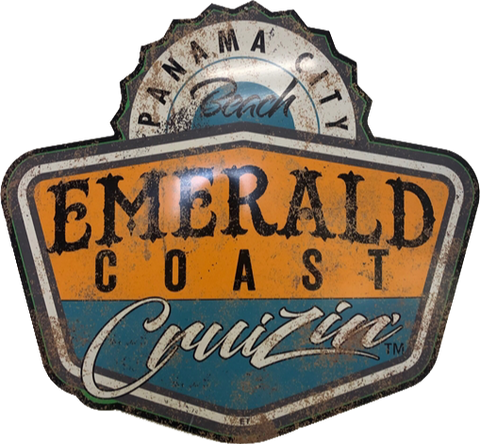 Emerald Coast Cruizin' Distressed Logo Sign (Made to Order)