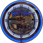 2019 Pigeon Forge Rod Run NEON CLOCK Blue / Red