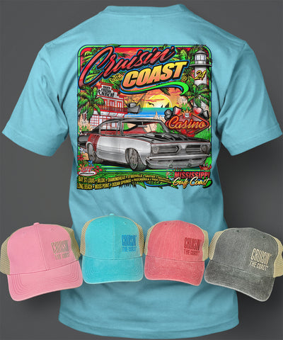 2020 Cruisin' The Coast Main Design T-Shirt/Hat Combo Set 2