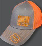 2020 Cruisin' The Coast Charcoal panel mesh hat