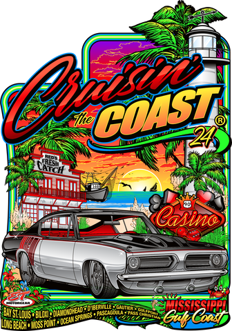2020 Cruisin' The Coast Main Design Metal Sign (Made to Oder)