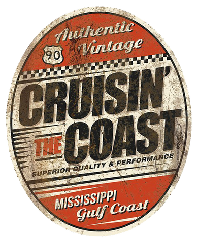 2020 Cruisin' The Coast Oval sign (Made to Order)