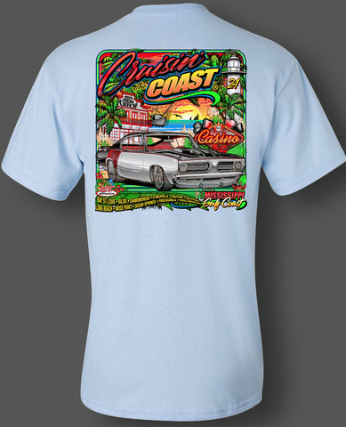 2020 Cruisin' The Coast Main Design Pocket T-Shirt