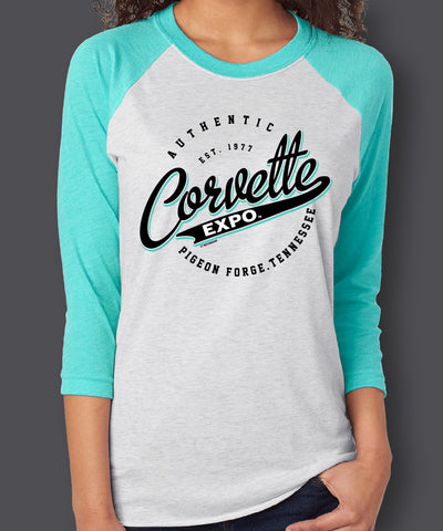 2020 Corvette Expo Adult Unisex 3/4 sleeve