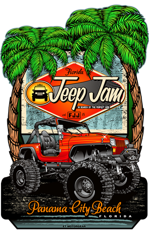2020 FLorida Jeep Jam - Metal Retail Sign Endless Night Design (Made to Order)
