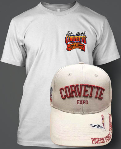 2020 Corvette Expo T-Shirt Hat Combo