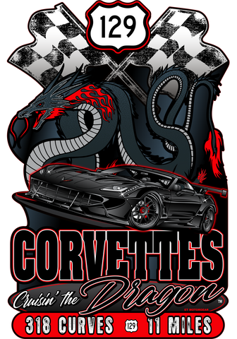 2021 Corvette Expo Dark/Dragon Design Sign