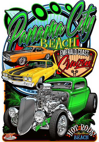 2021 Emerald Coast Cruisin Spring Metal Sign