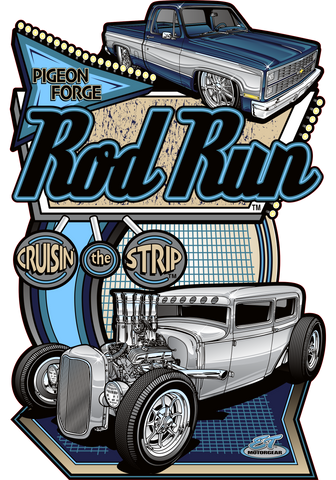 2021 Pigeon Forge Rod Run Dark Design Sign