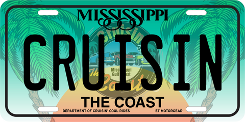 Cruisin' the Coast License Plate (MADE TO ORDER)
