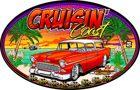 Cruisin' the Coast 21 Big Oval Sign (Made to Order)