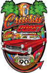 Cruisin' the Coast 22 Big Oval Sign (Made to Order)