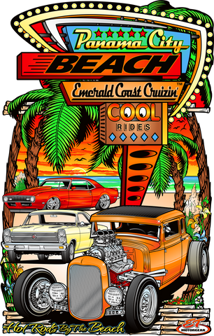2020 Spring Emerald Coast Cruizin' Metal Garage Sign (Made to Order)