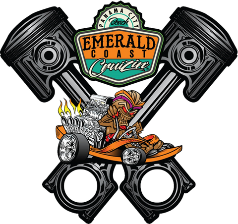 Emerald Coast Cruizin' Small Piston Sign