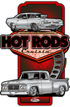Hot Rods Cruisin Dodge Metal Sign (Made to Order)