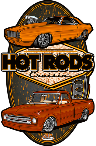Hot Rods Cruisin Chevy Metal Sign (Made to Order)