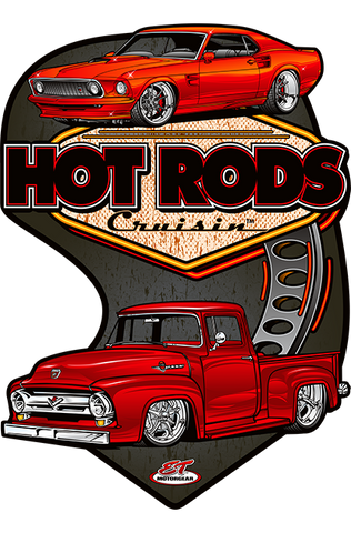 Hot Rods Cruisin Ford Metal Sign (Made to Order)