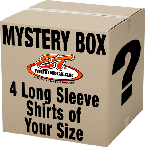 Mystery Box: 4 Long Sleeve Shirts of Your Size