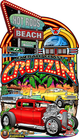 2019 Official Emerald Coast Cruizin' Metal Sign (Made to Order)