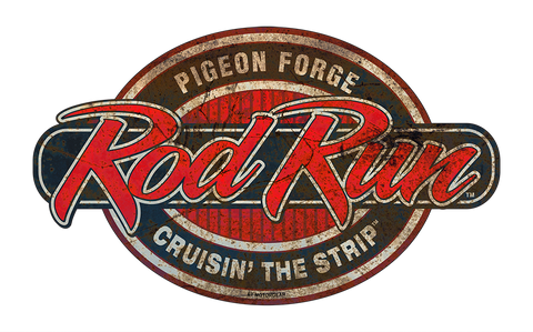 Pigeon Forge Rod Run metal sign