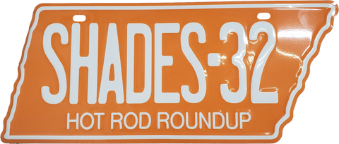 Shades Hot Rod Roundup TENN Licence Plate